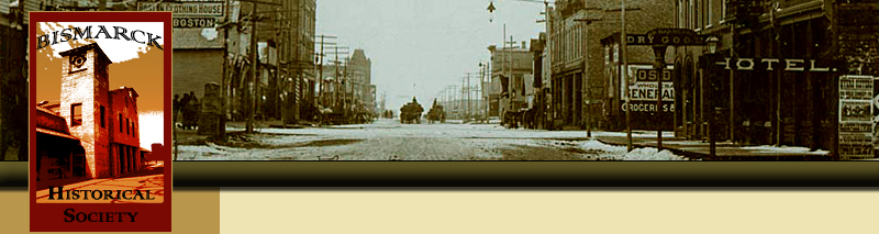 Historical photo of downtown Bismarck